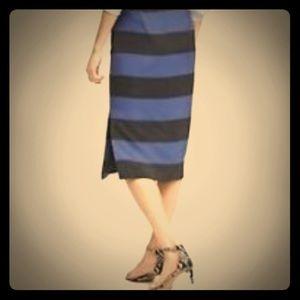 NWT Banana Rep shimmer stripe skirt